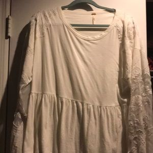 Free People embroidered sleeves
